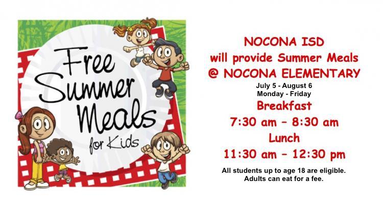 Free Summer lunches - July 5-Aug 6 2021