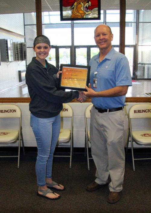 May Student of the Month Lauren Suter