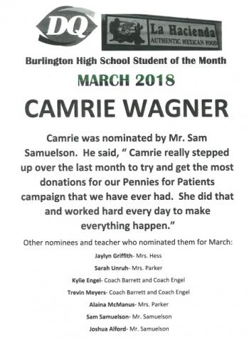 Camrie Wagner Bio
