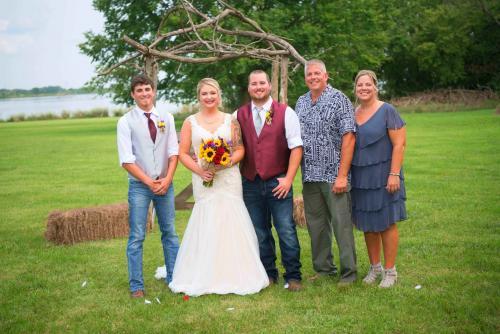 family pic at wedding