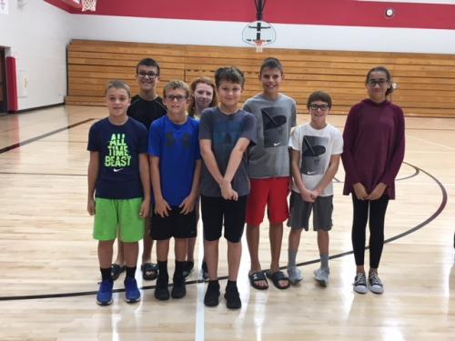 6th Grade Students of the Month Sept 2018