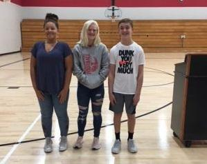 8th Grade Students of the Month Sept 2018