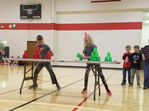 Maddux vs Korryn in the cycle challenge.