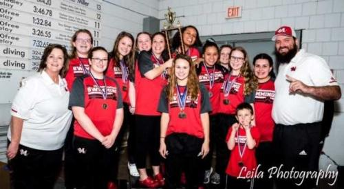 2019 Girls Swim Team Conference Champs