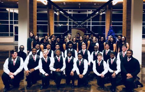 High School Choir performing at symphony