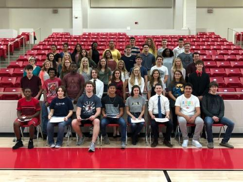 Advanced Placement Incentive Assembly help Sept. 24, 2018 in Panther Arena