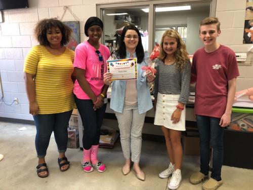 The Teacher Cadet Class chose Mrs. Kelsey Elam as the Star Staffer of the Week.