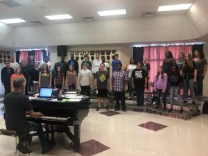First day of choir 2018-2019