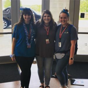 Ivory Wells (nettleton intern), Ms. Hoover, and Olivia Adams (Nettleton Choir Alumni) at ASU choir camp