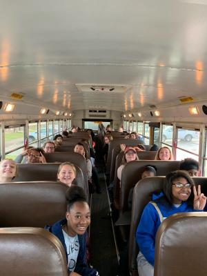 Jr. High choir on their way to All Region try-outs!!!!!!