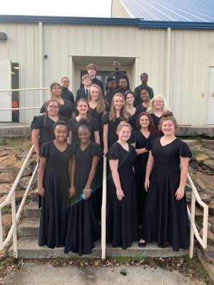 2018 Jr. High All Region choir students