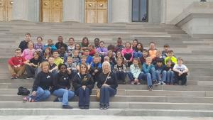 THINK & TAP fourth and fifth graders toured the State Capitol on November 29.