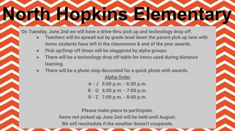 Elementary Item Pick-Up & Drop-Off