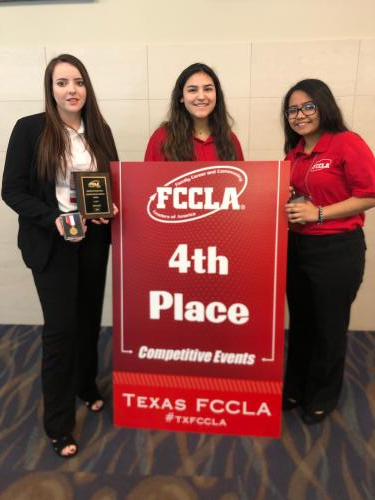 Jaci Wyatt, Jessica Garcia, & Teresa Juarez place 4th in Chapter Review Portfolio