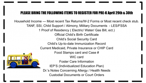Pre-K & Kinder Registration