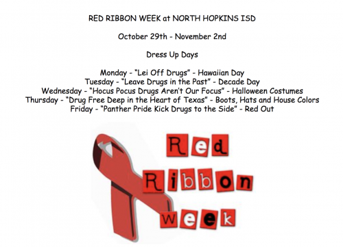 Red Ribbon Week Dress Up Days