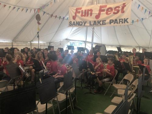 North Hopkins Band at Sandy Lake Fun Fest 2018