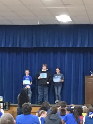 Proud of the Middle School Top Readers...all 3 GT students! :)