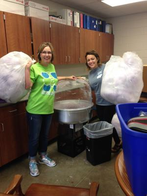 Making Cotton Candy on Field Day with Sara Geater