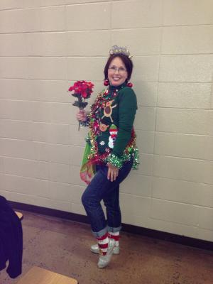 Winner of the Ugly Sweater Contest