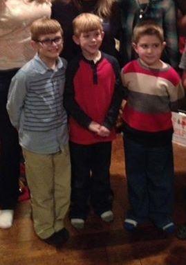Christmas 2016 Eli, Brayden, Desi