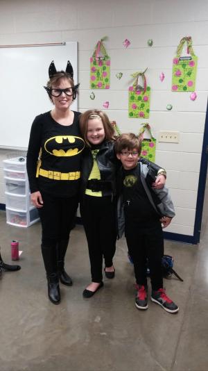 Batgirl with Emery and Jackson