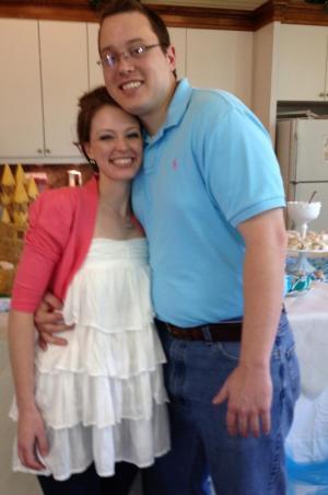 Susie with Josh at their Wedding Shower