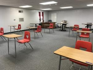 Math Classroom with Social Distancing