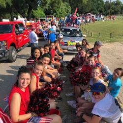 Three Way students represent in the Fourth of July parade!!