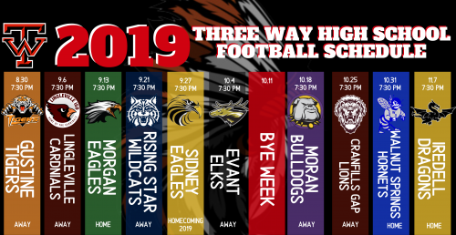 2019 TW Braves Football Schedule