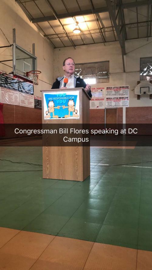 REPRESENTATIVE FLORES VISTS THE OTHER D.C. (Picture Heavy)