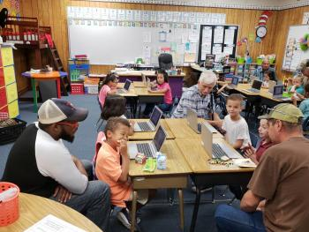 Bring Your Dad to School at McBay Elementary!