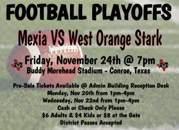 Football Playoff Mexia VS West Orange Stark