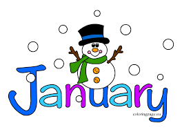 January with a snowman