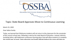 Topic: State Board Approves Move to Continuous Learning