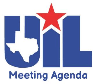 District 6AAA UIL Meeting Agenda - September 8, 2021