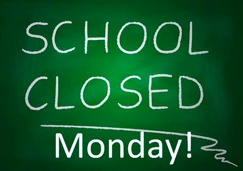 School Closed Monday, February 22