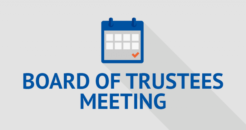 Board of Trustees: Notice of Public Hearing and Regular Meeting - 12/1/20