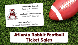 NOTICE OF FOOTBALL TICKET SALES