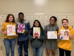 AHS Art Club Breast Cancer Awareness Art Contest