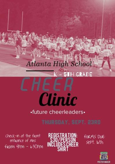 K-5 Mini Cheer Clinic - September 23