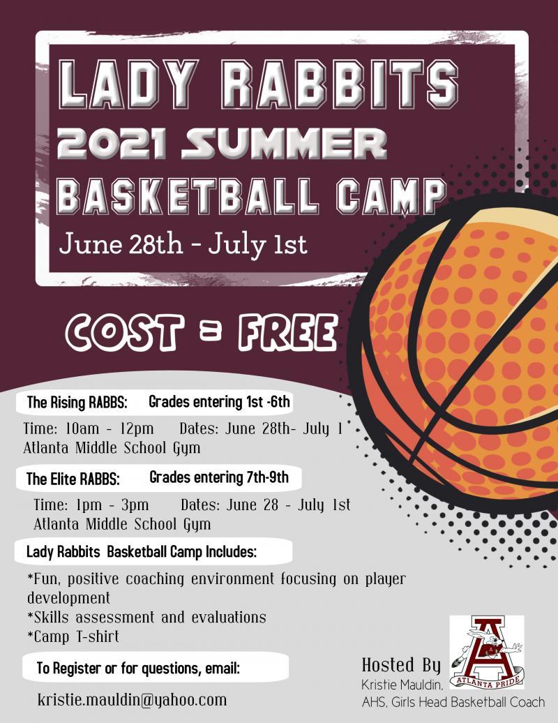 Lady Rabbits 2021 Summer Basketball Camp:  June 28-July 1