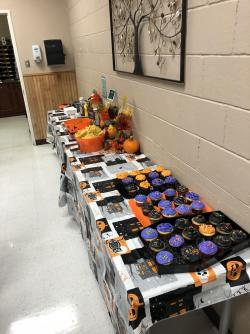 AHS Culinary Department Provides Homemade Halloween Snacks for Teachers