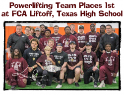 Powerlifting Team Places 1st at FCA Liftoff