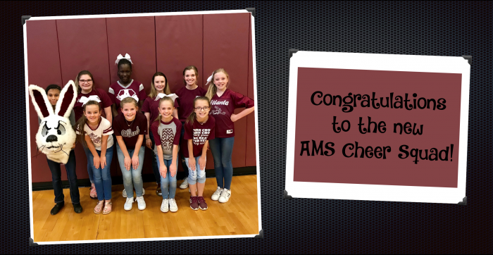 Congratulations to the new AMS Cheer Squad!
