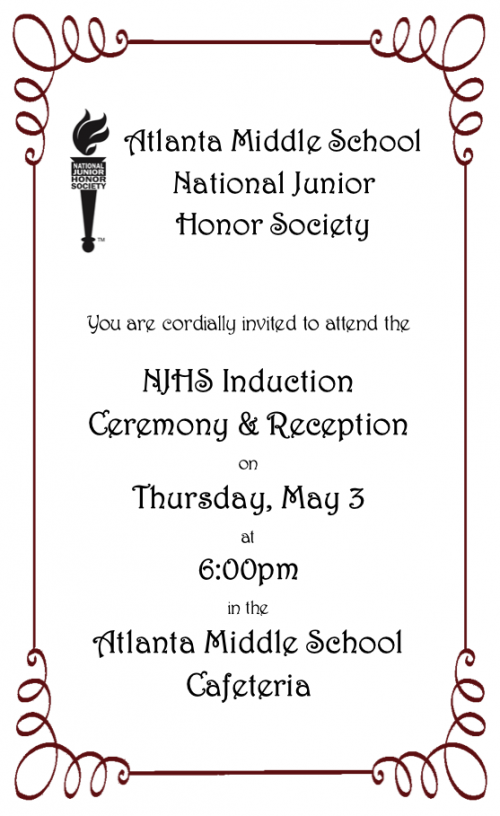NJHS Induction Ceremony