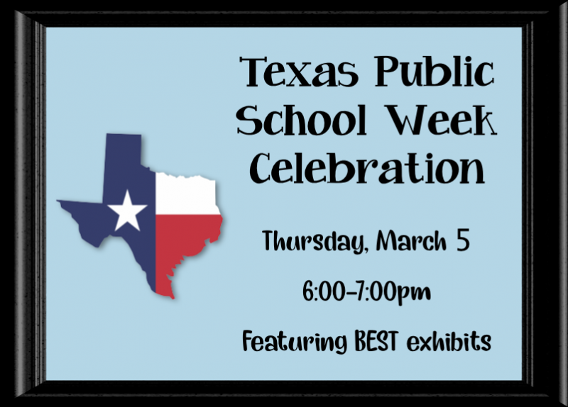 Texas Public School Week Celebration - Thursday, March 5