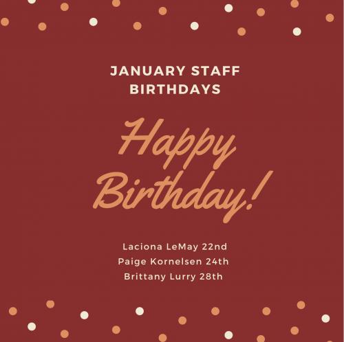January Staff B'days