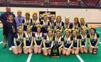 Cheerleaders Back-to-Back Academic Champions