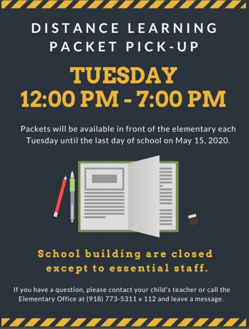Distance Learning Packet Pick-Up